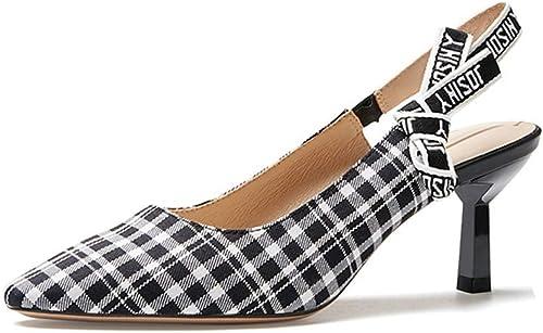 AJUNR Femmes Loisirs Le Printemps Nouveau Style De 100 Ensembles des Loisirs des Chaussures des Souliers à Talons Hauts 6 5 Cm