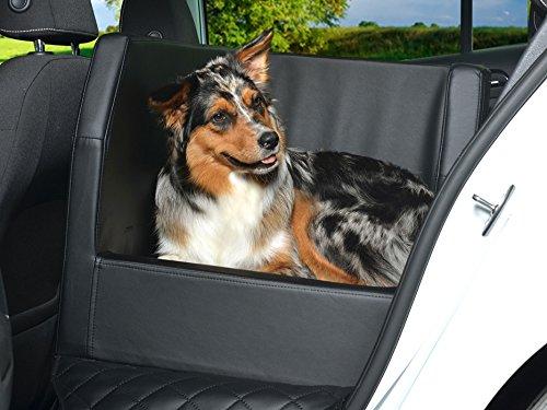 PadsForAll Auto Hundebett, Rücksitz Schutzdecke, Autoschondecke, auch in visco elastisch | Uni schwarz