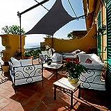 Lehood 16.5' x 16.5' Sun Shade Sail Rectangle Canopy Gray, Shade Sail UV Block for Yard Patio Lawn Garden Deck