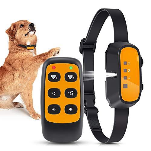 Collar de adiestramiento para Perros, Collar de Spray de citronela con Control Remoto, Modos de pitido y Spray Collar de ladridos para Perros, Seguro e inofensivo. Recargable Ajustable.