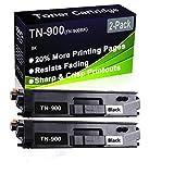 Confezione da 2 cartucce di toner laser compatibili HL-L9200 HL-L9300 (alta capacità) per stampanti Brother TN-900 (TN-900BK)