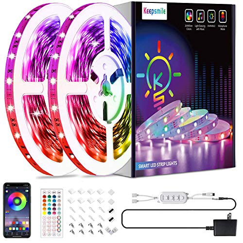 50ft Led Strip Lights, Keepsmile 5050 RGB Color Changing Led Light Strips, Led Lights for Bedroom,...