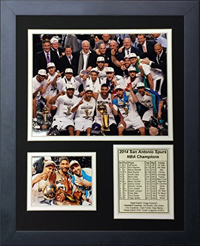 Legends Never Die 2014 San Antonio Spurs NBA Champions Podium Framed Photo Collage, 11 x 14-Inch image
