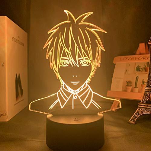 Anime Kuroko Baloncesto Kuroko Tetsuya Figura Led Luz de Noche para Niños Niño Dormitorio Decoración Manga Baloncesto Regalo Lámpara de Escritorio