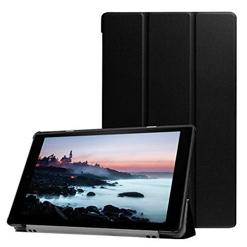 Lobwerk Cover für Amazon Fire HD10 2017/2019 Tablet Hülle Klapp-Tasche 10.1 Zoll Halterung Hülle