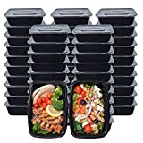 Meal Prep Containers, 50 Pack (750ML/ 26 OZ) Food Storage Containers with Lids, Disposable Bento Box Reusable Plastic Lunch Box Kitchen Food Take-Out Box Microwave/Dishwasher/Freezer Safe