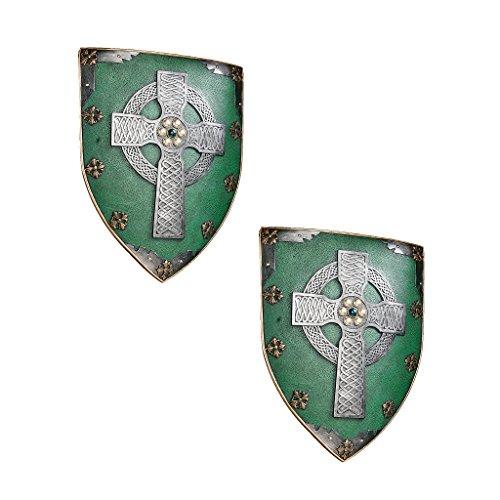 Design Toscano Celtic Warriors Sculptural Wall Shield - Set of Two