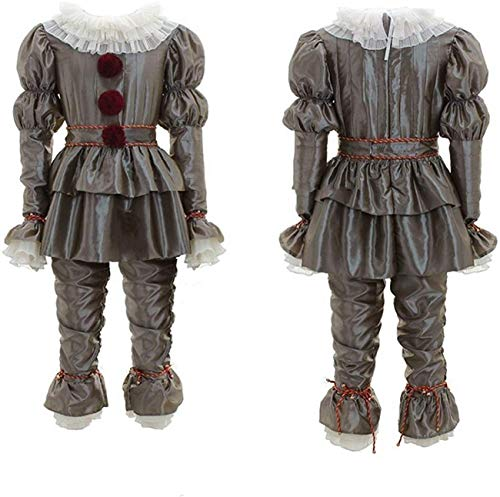 Scary Clown Costume for Kids Cosplay Halloween Costume Outfit Full Set Adults Grey - http://coolthings.us