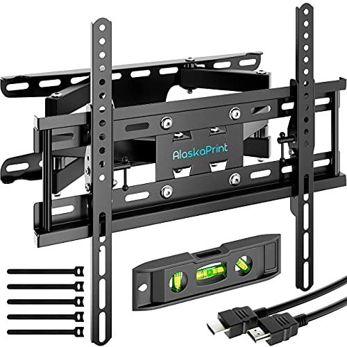 Alaskaprint TV Wandhalterung Schwenkbar Neigbar TV Halterung für 20-60 Zoll Fernseher wandhalterung Flach & Curved LCD LED, Monitor(58-140CM) bis zu 50kg, max.VESA 400x400