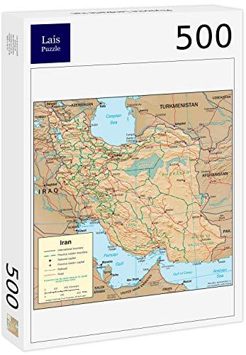 Lais puzzel Fysieke kaart van Iran 500 stuks