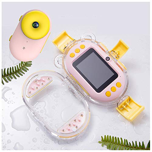 LDD OUTDOOR Waterproof Camera Digital Camera with 2.4 Inch Screen Wide-Angle WiFi Function 32GB TF Card for Best Idea Toys Gifts for 4-10 Year Old Girls Boys,Pink