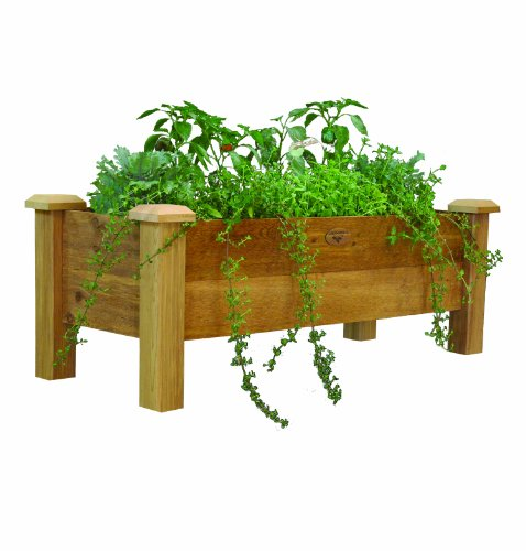 Gronomics RPB 18 - 48 18-Inch by 48-Inch by 19-Inch Rustic Planter Box, Unfinished