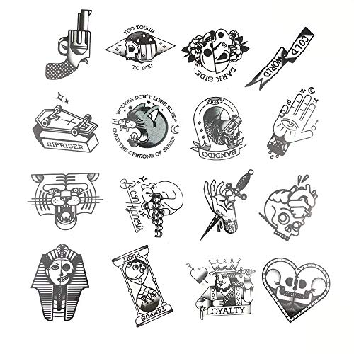 28pcs / Lot Von Old School Tattoo Style Aufkleber Notebook KüHlschrank Skateboard Trolley Fall Aufkleber Rucksack Tische Wasserdicht Pv