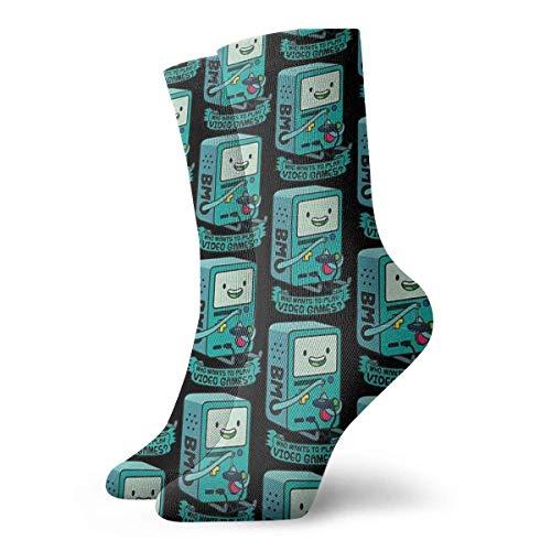 QUEMIN Bmo Game Socken Classic Leisure Sport Kurze Socken Geeignet für Männer Frauen Schweißsocken Komfortable atmungsaktive Casual Socken 30cm