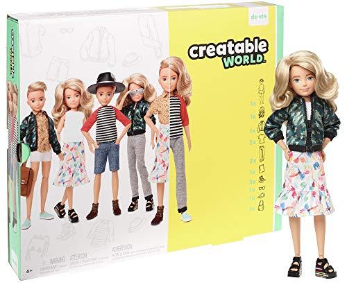Creatable World GGT67 - Deluxe Charakter Puppen Set, individuell gestaltbare gender neutrale Puppe mit blonden, welligen Haaren, Spielzeug ab 6 Jahren