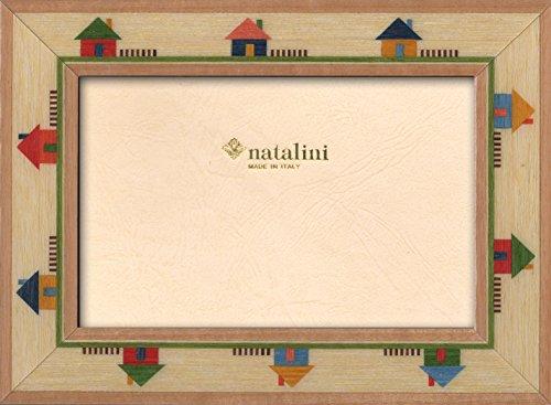 Natalini, MAISON 10X15, Cadre photo, Bois, Bois naturel, Mesures exterieures 15 X 20 X 1,5