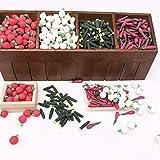 Searchyou - 70 Piezas Escala 1/12 Casa de muñecas Juguetes en Miniatura de Frutas y Verduras Mixtas Modelo Cocina Frutería Accesorio Decoración