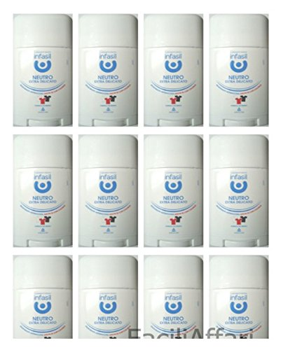 12 deodoranti Infasil Deo Stick Neutro Extra Delicato deodorante per corpo