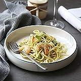 MRTYU-UY Ciotole per Mangiare per Adulti, Piatto in Ceramica/Ciotola per Spaghetti/Piatto Piatto Grande
