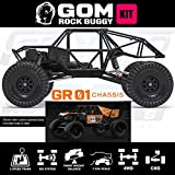 Gmade 56000 Gom Rock Crawler Buggy Kit, 1/10 Scale, with A Gr01 Chassis, 4WD