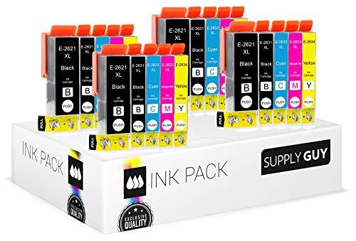 SupplyGuy 20 XL cartucce per stampanti Epson 26XL per Expression Premium XP510 XP520 XP600 XP605 XP610 XP615 XP620 XP625 XP700 XP710 XP720 XP800 XP810 XP820