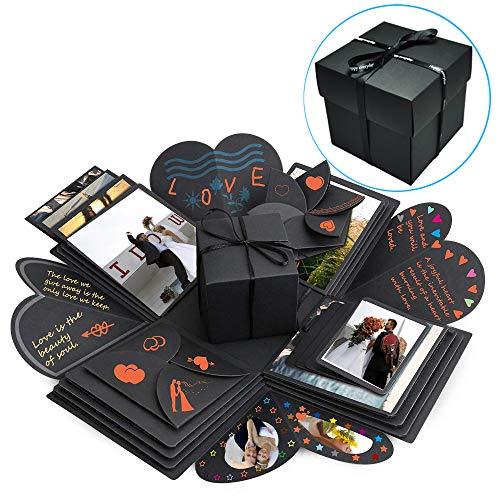 Kreative Überraschung Box, Huttoly Explosion Box 6 und 4 Gesichtern Geschenkbox DIY Faltendes Fotoalbum Scrapbook für Christmas, Geburtstag, Jahrestag, Valentinstag, Heiratsantrag, Hochzeit, Muttertag