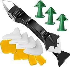 Sealant Remover, 13 siliconen kitkit 3 in 1 metalen grout schraper met witte pads/siliconen afwerking gereedschap/kitmonds...