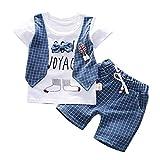 sunnymi 0-3 Jahre Kleinkind Baby Jungen Gentleman Bogen T-Shirt Tops Shorts Hosen Outfits Kleidung Set