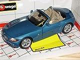 B-M-W Z4 E85 Cabrio Blau Roadster 2002-2008 1/18 Bburago Modell Auto