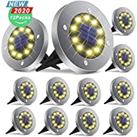12-Pack Broom Solar In-Ground Patio Lights