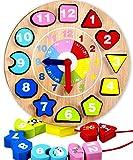 Jaques of London Forma Ordinamento Orologio didattico Giocattoli in Legno da Oltre 220 Anni - Grandi Giocattoli Montessori per Tutti i Bambini Ragazzi e Ragazze 1 2 3 4 Anni - qualità Garantita