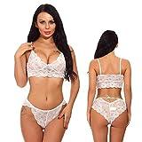 VINDHWASHNI Vindhwshni Bra & Panty Set for Women Ladies and Girls Lingerie Set Free Size for: Bust (30 to 38 inch), Waist (28 to 40 inch) (White)