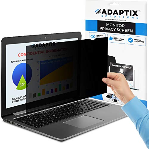 "Adaptix Laptop Privacy Screen 14"" – Information Protection Privacy Filter for Laptop – Anti-Glare, Anti-Scratch, Blocks 96% UV – Matte or Gloss Finish Privacy Screen Protector – 16:9 (APF14.0W9)"