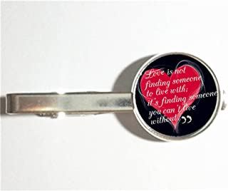 Handmade unique gift shop Modern Charm Tie Clip Fashion Tie Clip,Not All Those Who Wander Are Lost Quote Tie Clip Glass Cabochon-RC305