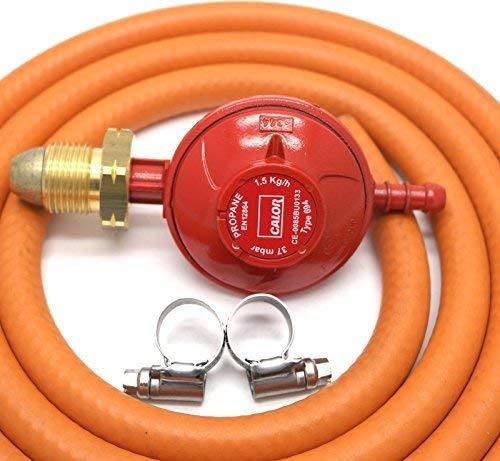Kit Propano Regulador 37 mbar, tubo 2M y 2 clips 5 años de garantía