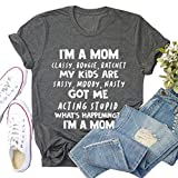 YourTops Camiseta con diseño de carraca con texto en inglés 'I'm A Mom Classy Bougie Ratchet My Kids are Sassy Moody Nasty para mujer, 2-gris oscuro, Large