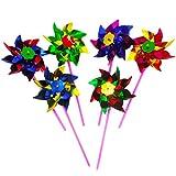 STOBOK Molinillos de Viento Coloridos Arco Iris Juguete de Viento para Niños en...