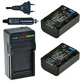 Chili Power de NP-FV50, NP-F760, de FV30, FV40KIT: 2x Batería + Cargador para Sony DCR-SR15E SR15de  DCR-SR88, SX15de  SX85, FDR PT-AX100, HDR de CX130de  CX900, HC9, PJ10de  PJ810, TD30V, XR150de  XR550V, HXR-NX30U, NX70U