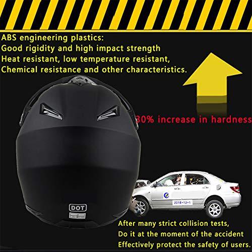 Motocross Helmet Occhiali Guanti Maschera Adulto Moto ATV Off Road Casco MTB Unisex Full Face Crash Caschi D.O.T Certificato Rockstar,TK01,XL61~62CM