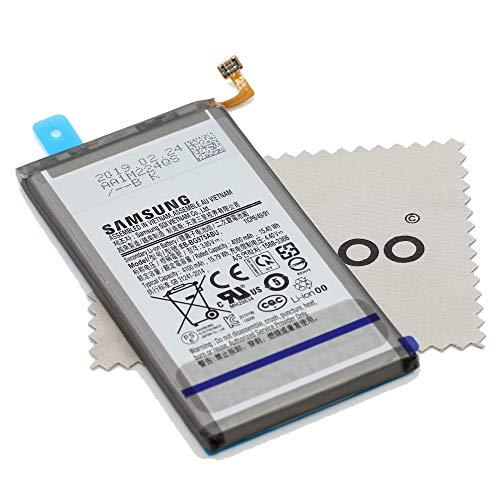 Akku für Samsung Original EB-BG975ABU für Samsung Galaxy S10 Plus / S10+ (G975F) mit mungoo Displayputztuch