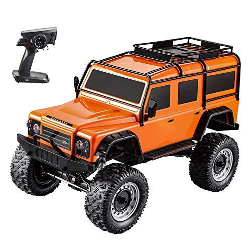 Z-XLIN RC eléctrico Vehículo de todo terreno Land Rover Defender modelo de coche de juguete educativo for el cabrito Adultos-Verde Naranja, ilimitado Escalada de control remoto del vehículo del coche