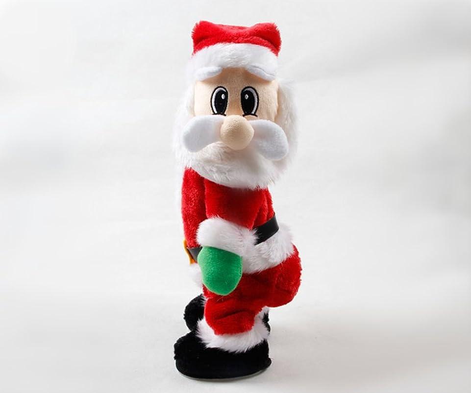 寝具重量過半数fanituhan クリスマス サンタ 電動歌って踊ってサンタクロース クリスマス飾り おもちゃ 置物