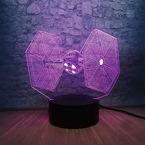 Nachtlampje tafellamp voor studeerkamp 3D-lamp draagbare lantaarn 3D-ledlamp RGB-verlichting 7 kleuren veranderende nachtlampje wooncultuur kinderverjaardagscadeau met afstandsbediening
