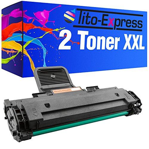 Tito-Express PlatinumSerie 2X Toner-Patrone XXL Schwarz kompatibel mit Samsung MLT-D1082S ML-1640 ML-1642K ML-1645 ML-2240 ML-2240K