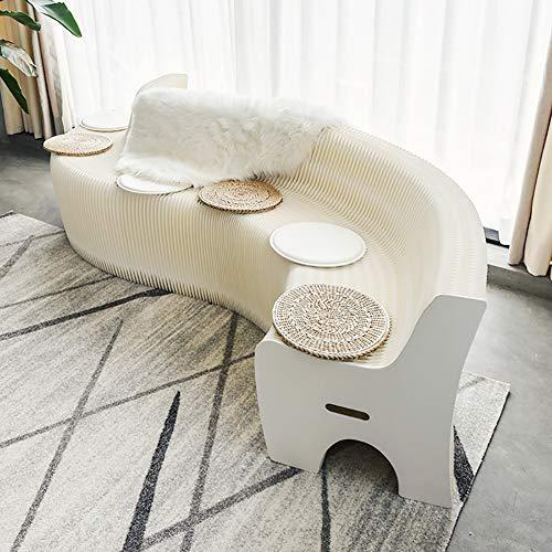 ZZPAPER Multifunktion Möbel Falten Sofa Weiß Kraft Papier Material Erhebliche Platzersparnis Keine Montage erforderlich Senden Sie 9 Kissen