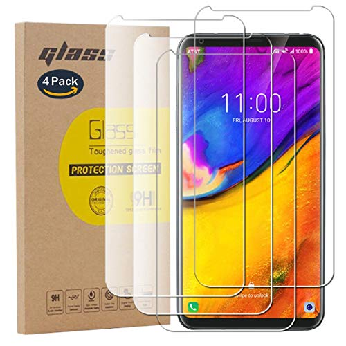 pinlu [4 Stück] Panzerglas Bildschirmschutzfolie für LG V35 ThinQ Transparent Glasfolie Protector 9H Festigkeitgrad Schutzglas,99prozent Transparenz,Einfaches Anbringen