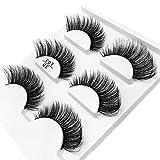 3 Paar falsche Wimpern sind handgefertigt, um die Wimpern am Ende der Augen zu verlängern (3...