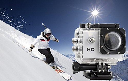 FINCO(TM) New Waterproof Helmet Sports DV 720P Full HD H.264 12MP Car Recorder Diving Bicycle Action Camera 1.5 Inch LCD 140¡ãWide Angle Lens Outdoor Waterproof HD VCR/CAR DVR/Camera G-Senor Motorbike Camcorder DVR