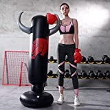 LONEEDY - Saco de boxeo hinchable de pie para adultos y adolescentes, para entrenamiento intenso, gimnasia, deportes, alivio del estrés, Vaca.
