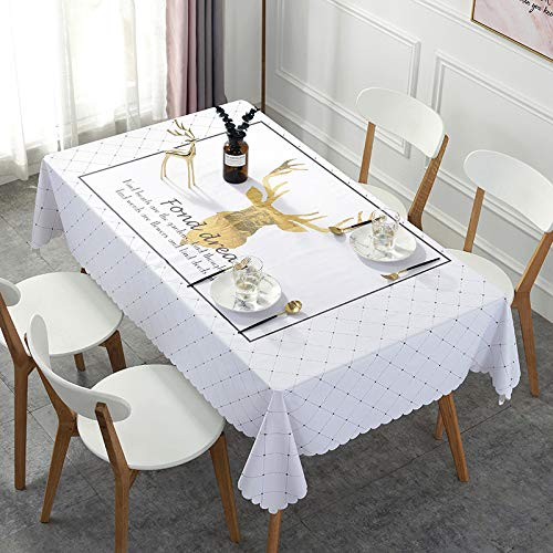 XIAOE Easy Wipe Clean Table Cloth Simple Nordic Style Tablecloth Circular Table Cover Parties Dinner Indoor Outdoor Picnics Gatherings Special Event 40 * 60cm